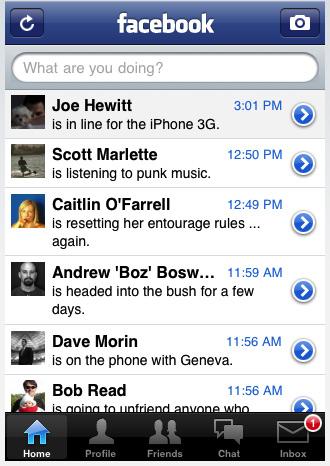 facebook iphone Ücretsiz indirip kullanabileceğiniz 11 iPhone ve iPhone 3g programı ile cebinizi zenginleştirin resmi