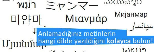 İnternet üzerinde bulacağınız servislerle size gelen yabancı bir metnin hangi dilde yazıldığını bulabilirsiniz.