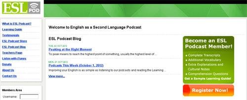 İnternetten İngilizce Öğrenmek: ESL Pod ücretsiz olarak yararlanabileceğiniz podcastleri İngilizce öğrenmek isteyenlerin hizmetine sunuyor