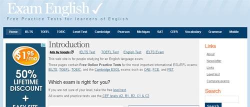İnternetten İngilizce Öğrenmek: İngilizce sınavlara hazırlananlar için ideal bir site