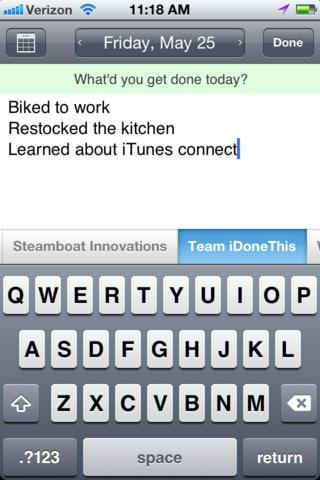 Aradığınız kolay kullanımlı ve ücretsiz bir not defteriyse iDoneThis tam size göre.
