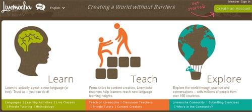 İnternetten İngilizce Öğrenmek: Live Mocha İngilizce öğreniminiz için interaktif bir hizmet sunuyor