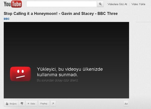 Video URL'sinde yapacağınız ufak bir oynama ile açılmayan videoları izleyebilirsiniz