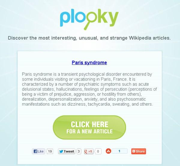Plooky en garip Vikipedi yazılarını bir araya topluyor