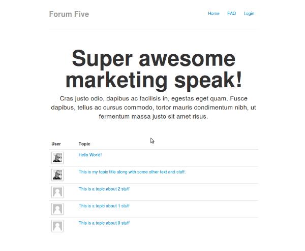 Forum Five bir forumdan bekleyeceğiniz en temel özelliklerin hemen hepsine sahip