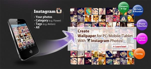 Instagram fotograflarından kolayca duvar kağıtları üretin