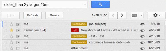 Gmail'in sunduğu arama operatörleri sayesinde aradığınız e-postalarınıza ulaşmak çok kolay