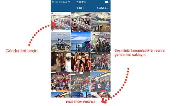 Instagram üzerinde başkaları tarafından etiketlenmiş fotograflarınızı gizleyin.
